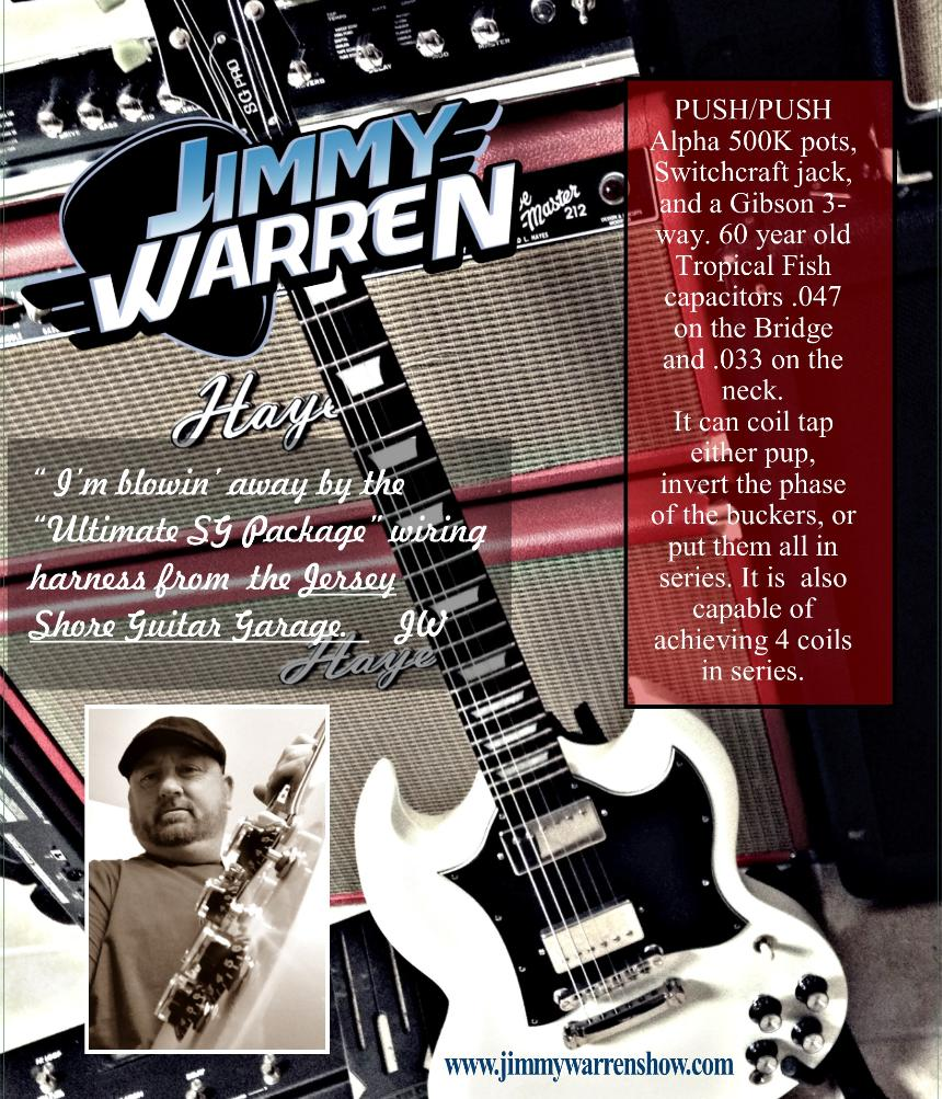 Guitar Garage Testimonials Pre Wired Les Paul Wiring Harness If Your A Freak Like Me And Love Creating Then You Need From The Jersey Shore Jimmy Warren